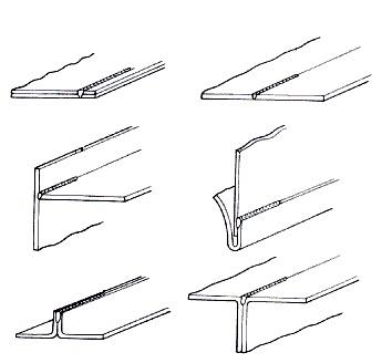 Виды сварочных швов по положению в пространстве: нижние, горизонтальные, вертикальные и потолочные