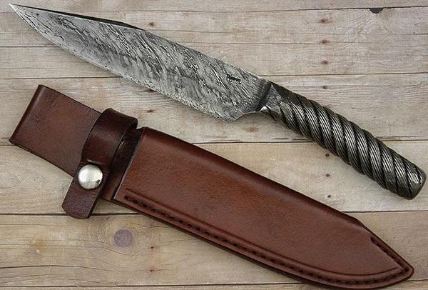 фото самодельного ножа из троса
