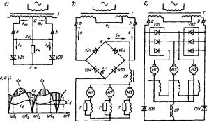 Схема диодного выпрямителя