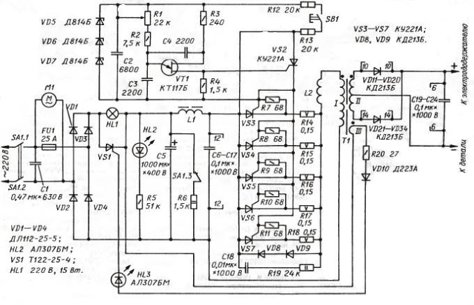 Схема сварочные аппараты инверторного типа 441