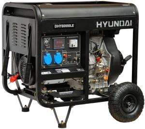 Электрогенератор Hyundai DHY-8000 LE, однофазный агрегат, используемый на дизельном топливе